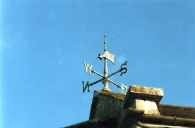 Weather vane on top of Gas Works House