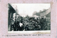 Busy Day in Main Street Roscommon Town c.1900